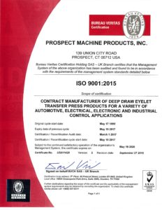 iso certification prospect machine products